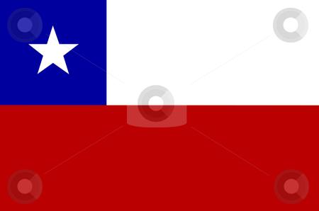 Flag of Chile illustration stock photo, Flag of Chile illustration by John Teeter