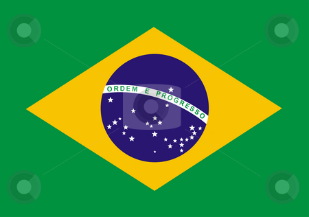 Flag Brazil stock photo, Flag of Brazil illustration by John Teeter