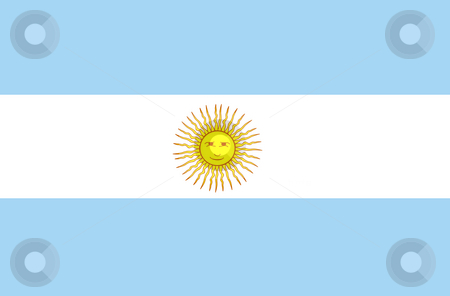 Flag Argentina stock photo, Flag of Argentina Illustration by John Teeter