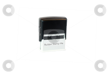 Rubber Stamp Me stock photo, A photograph of an isolated rubber stamp printed with the text Rubber Stamp Me by Philippa Willitts