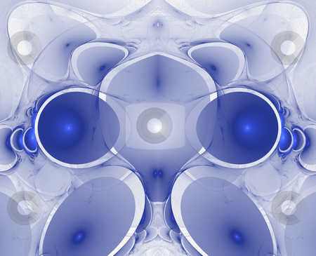 Background stock photo, Abstract blue tech flame on the white background by Petr Koudelka