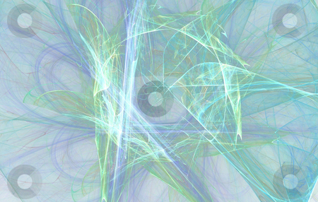Background stock photo, Abstract blue green flame on the white background by Petr Koudelka