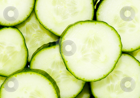 Sliced Cucumber stock photo, Sliced cucumber - healthy eating - vegetables - close up by Petr Koudelka