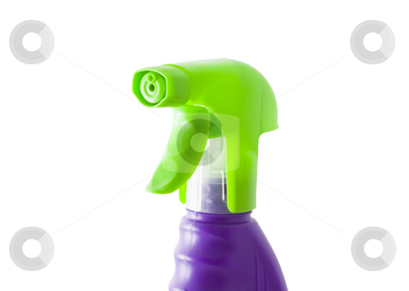 Sprayer stock photo, A green plastic sprayer isolated on the white background by Petr Koudelka