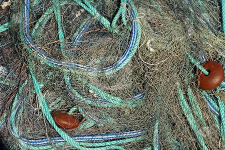 Fisherman tool stock photo, Traditional Mediterranean fisherman net by Serge VILLA