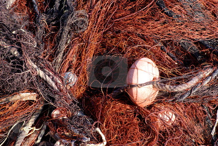 Fisherman tool stock photo, Traditional Mediterranean fisherman net by Serge VILLA