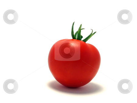 Tomato stock photo, Tomato on white background by Corinna Walby