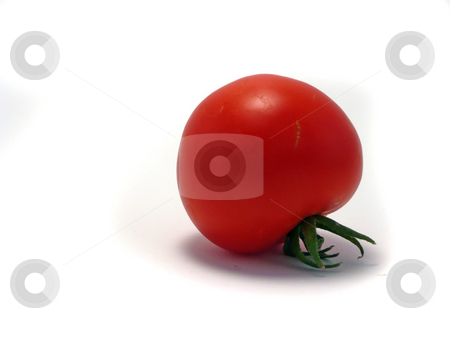 Tomato stock photo, Tomato on a white isolated background by Corinna Walby