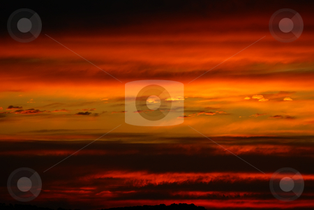 Dramatic sky stock photo, Fire in cloudy sky by Serge VILLA