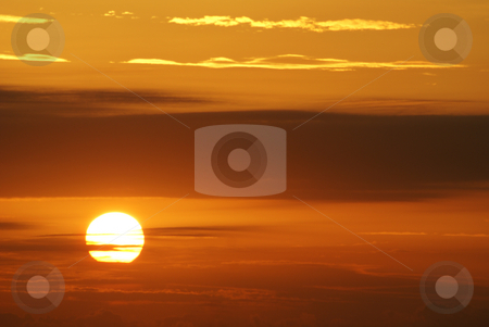 Sunset stock photo, Sunset in french riviera by Serge VILLA