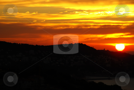 Sunrise stock photo, Sunrise over the mountains by Serge VILLA