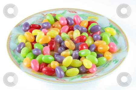 Jelly beans 2 stock photo, Colorful jelly beans served on a plate by Jonas Marcos San Luis