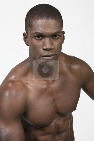 Black Athlete stock photo, Black Athlete by Csaba Fikker