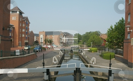 Chester Canal Cheshire stock photo, Chester canal at Chester, Cheshire UK by Ray Roscoe