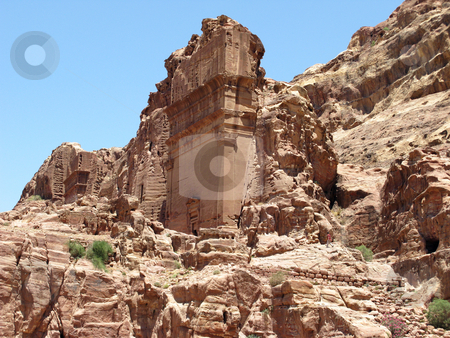 Ruins of Petra stock photo, Ruins of Petra, Jordan, Middle east by Roman Vintonyak