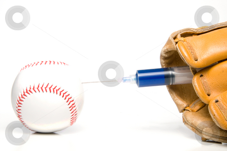 Baseball Steroids stock photo, The concept of human growth hormone use in sports. by Robert Byron