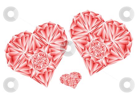 Red Diamond Heart Illustration stock vector clipart, Red Diamond Heart Vector Illustration by John Teeter