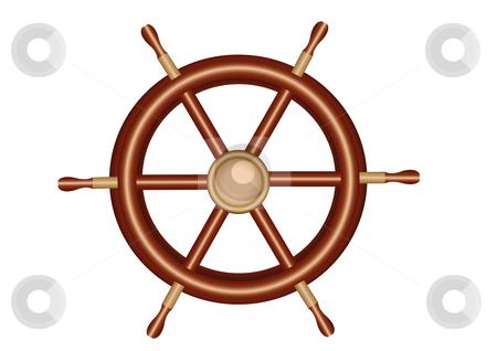 Ships Wheel Vector Illustration stock vector clipart, Ships Wheel Vector Illustration by John Teeter