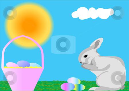 Easter Bunny Illustration stock vector clipart, Easter Bunny Illustration by John Teeter