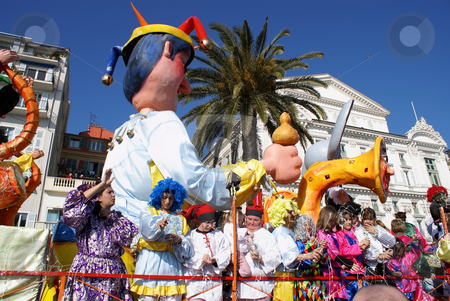 Carnival in Nice stock photo, Carnival in the city of Nice (French Riviera) in february 2008 by Serge VILLA