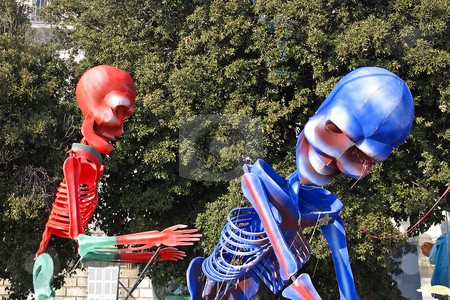 Skeletor stock photo, Carnival in the city of Nice (French Riviera) in february 2008 by Serge VILLA