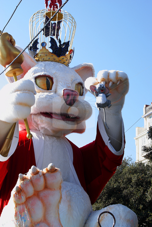 Mouse and Cat stock photo, Carnival in the city of Nice (French Riviera) in february 2008 by Serge VILLA