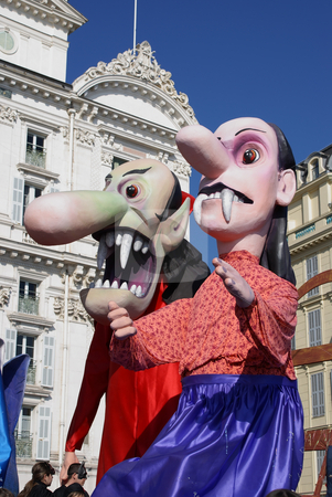 Vampire head stock photo, Carnival in the city of Nice (French Riviera) in february 2008 by Serge VILLA