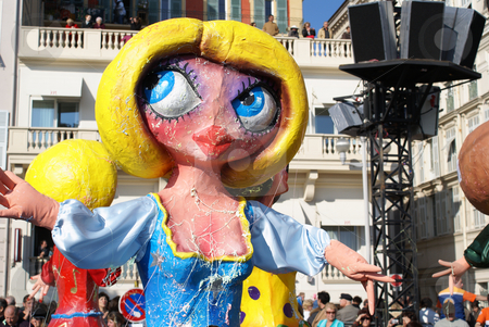 Big head stock photo, Carnival in the city of Nice (French Riviera) in february 2008 by Serge VILLA