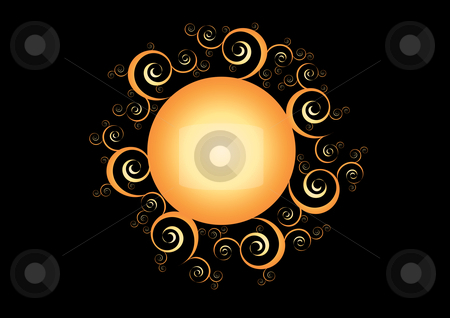 Abstract Sun Illustration stock vector clipart, Abstract Sun Vector Illustration by John Teeter