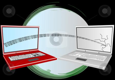 Computer virus illustation stock vector clipart, Computer virus illustration by John Teeter
