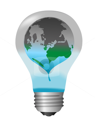 Earth Energy Crisis Illustration stock vector clipart, Earth Energy Crisis Illustration by John Teeter