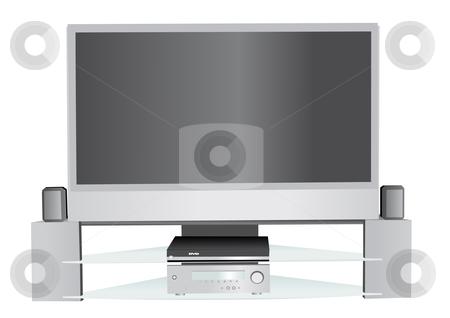 Home theater system illustration stock vector clipart, Home theater system vector illustration by John Teeter