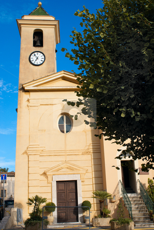 Church stock photo, An old church built in 1624 in the south of France in Provence (village of