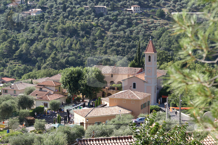 Castagnier stock photo, The Village of Castagnier in Provence (French Riviera) by Serge VILLA
