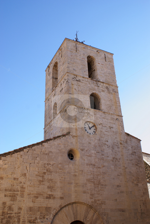 Medieval church stock photo, Old church from middle age in the city of Hyeres. (French Riviera) by Serge VILLA