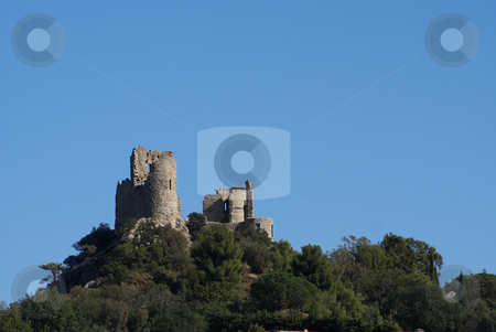 Middle age castle stock photo, Ruin of a middle Age castle in the village of