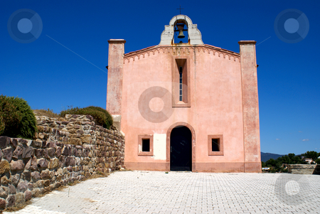 Church stock photo, Old church in the frencg village of Pierrefeu (Provence-France) by Serge VILLA