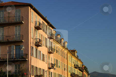Apartment building stock photo, Typical building in the city of Nice (French Riviera) by Serge VILLA