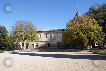 Provencal House stock photo, Castle in the village of