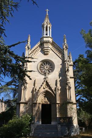 Church stock photo, Small church near the city of
