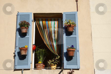 Shutters stock photo, Tradional shutters in Provence (France) by Serge VILLA