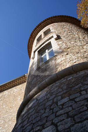 Tower stock photo, Castle (Tower) in the village of