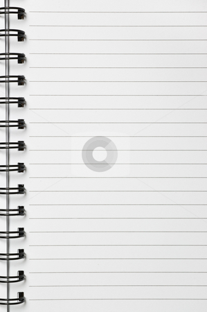 Spiral notebook stock photo, Spiral notebook, with lined sheets, close up shot. by Pablo Caridad