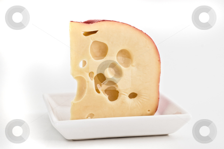 Swiss cheese isolated  stock photo, Swiss cheese isolated close up shot by Pablo Caridad