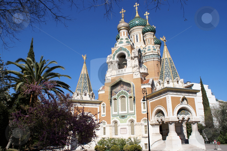 Russian Church stock photo, Russian Orthodox church in the city of Nice France - French Riviera by Serge VILLA
