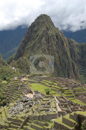 Machu picchu stock photo, Machu picchu in peru by Johnny Griffin
