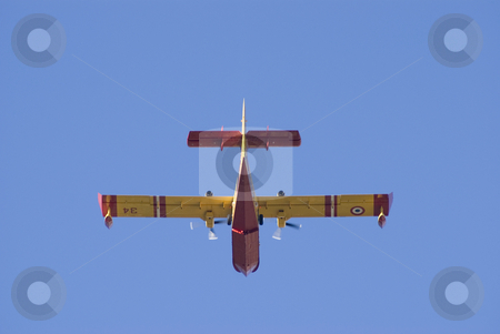 Forest fire rescue plane stock photo, Canadair plane in approach to stop forest fire. by Serge VILLA