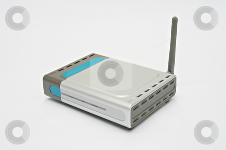 Access point stock photo, Wireless  access point isolated on white background by Jonas Marcos San Luis