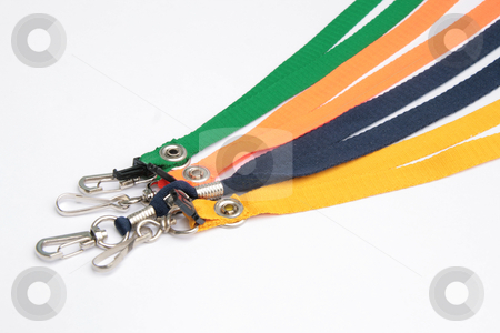 ID leash 2 stock photo, Multiple colored leash for IDs pen and cellphone by Jonas Marcos San Luis