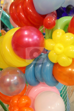 Balloons stock photo, Colorful balloons for sale inside a shopping mall by Jonas Marcos San Luis